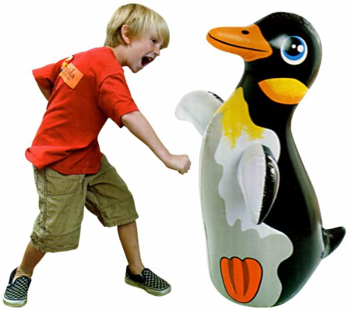 3D Bop Bag Blow Up Inflatable Penguin front-44259