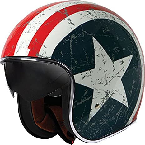 Origine helmets Sprint Rebel Star Casque moto type jet multicolore