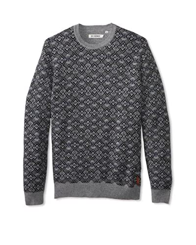 Ben Sherman Men's Jacquard Crew Sweater