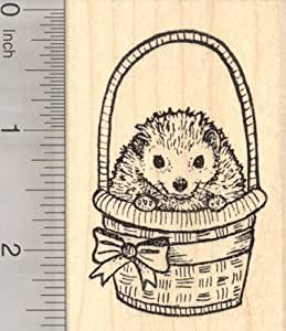 Easter hedgehog rubber stamp in basket arts for Rubber stamps arts and crafts