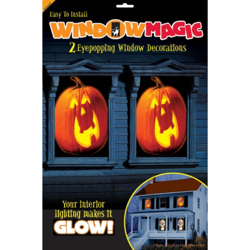 Pumpkin Window Magic Decorating Kit 2ct