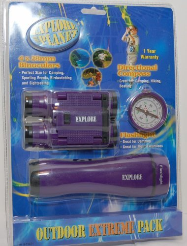 Explore Planet Outdoor Extreme Pack - Flashlight, Binoculars & Compass