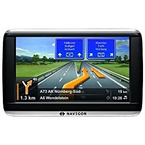 NAVIGON 42 Plus Navigationssystem (10,9cm (4,3 Zoll) Display, Europa 44, TMC, NAVIGON Flow, Text-to-Speech, Aktiver Fahrspurassistent )