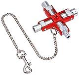 KNIPEX 00 11 06 Universal-Schlüssel für gängige Schränke und Absperrsysteme