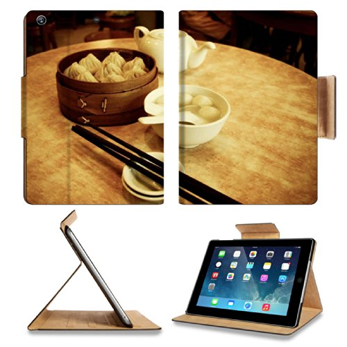Dessert Rice Ball Steam Buns Teapot Apple Ipad Air Retina Display 5Th Flip Case Stand Smart Magnetic Cover Open Ports Customized Made To Order Support Ready Premium Deluxe Pu Leather 9 7/16 Inch (240Mm) X 7 5/16 Inch (185Mm) X 5/8 Inch (17Mm) Luxlady Ipad front-69580