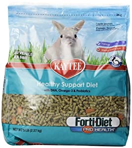 Kaytee forti Diet Pro Health Food for Juvenile Rabbits, 5-Pound