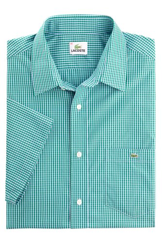 Short Sleeve Poplin Gingham Check Shirt