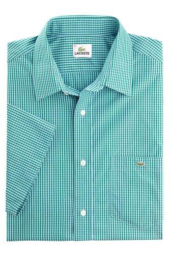 Short Sleeve Poplin Gingham Check Shirt