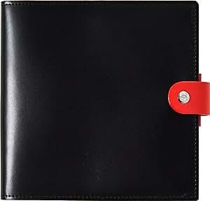 クオバディス 手帳 本革 カバー DUO 16x16cm ノワール&ルージュ