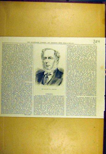 1883 Portrait Crawfurd Sporting Dramatic News Print