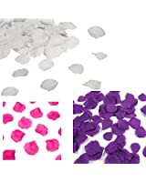 FreshGadgetz Ensemble de 1000 pétales couleur rose et 1000 Pétales violets en soie pour de belles décorations dans les mariages, les fêtes et occasions spéciales