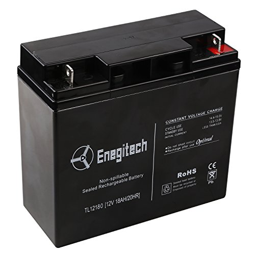 Powermall 12 V 18 Ah 20HR Sealed Lead Acid Rechargeable Battery Replacement with Nuts and Bolts (Zoom Energy Pack compare prices)