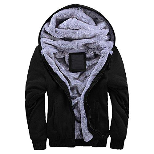 Harveyman Inverno caldo pile con cappuccio maglione cappotto da uomo Divisa da baseball