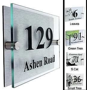 type 2 designer house number plaque house number sign. Black Bedroom Furniture Sets. Home Design Ideas