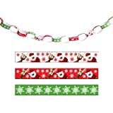 #7: Christmas Paper Chains pk100, Printed Design 20 cms size