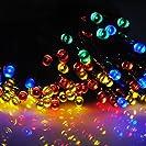 太陽発電 ソーラー 充電式 LED イルミネーション 発光モードは8パターン 【赤青黄緑・計200球】 20m 光...