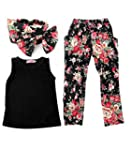 Jastore� Girls Sets 3PCS Sleeveless S...