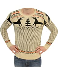 Christmas Holiday Sweater Reindeer Medium