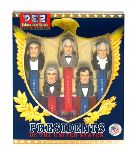 Presidents of the United States PEZ Candy Dispensers: Volume 3 - 1845-1861 (Hulk Candy Bowl Holder)