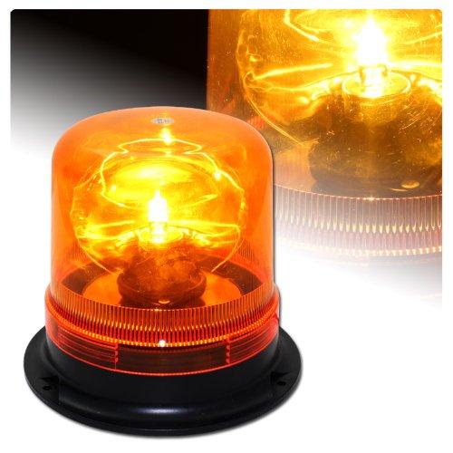 Rotating Revolving Amber Magnetic Base Hazard Warning H1 Bulb Emergency Strobe Light