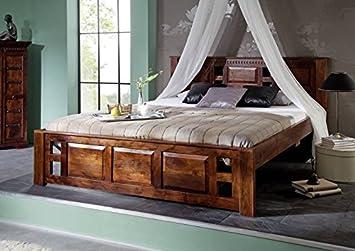 Cuna 140 x 200 colonial de madera de acacia madera maciza OXFORD CLASSIC #251