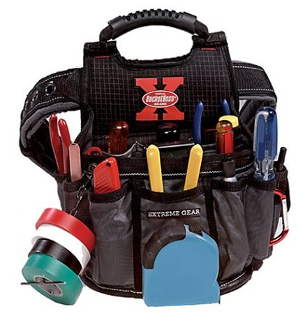 BucketBoss Extreme Gear 54017 Sparky Electricians Utility Pouch with Belt