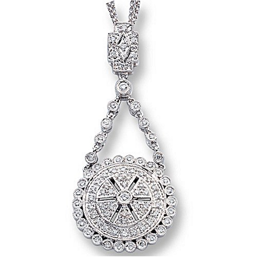 Ladies Diamond Antique Style Necklace