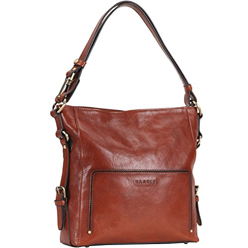 Banuce Vintage Italian Leather 2-way usage Hobo Handbag Shoulder Bag (Leather Italian Handbags compare prices)