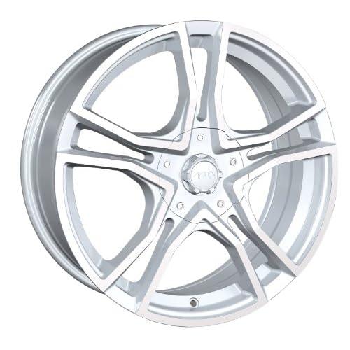17x7 Akita AK 48 (485) (Hyper Silver w/ Machined Face) Wheels/Rims 4x100/114.3 (485 7701S)