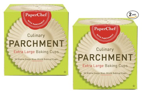 PaperChef Extra Large Paper Cupcake Liners / Baking Cups, 30 ct/Box