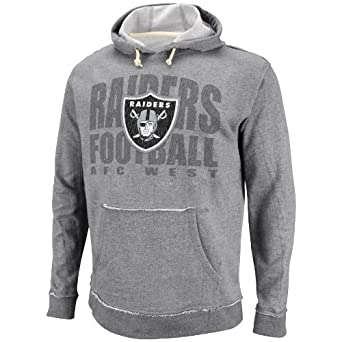 NFL Mens Oakland Raiders Crucial Call Ath Gray Heather Natural Long Sleeve Hooded... by VF LSG