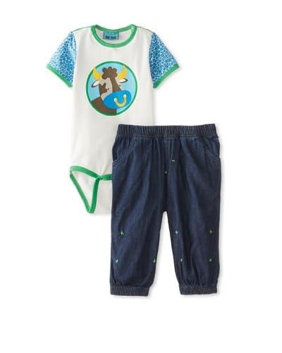 Me Too Baby Romper & Pant Set  [Navy]
