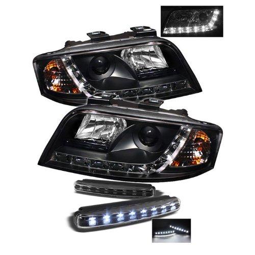 Audi A6 Drl Led Black Projector Headlights