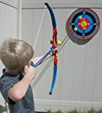Toy Bow and Arrow Archery Set with Target and 3 Suction Cup Arrows