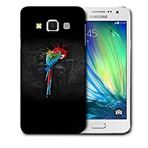 Snoogg Colorful Parrot Designer Protective Back Case Cover For SAMSUNG GALAXY A3