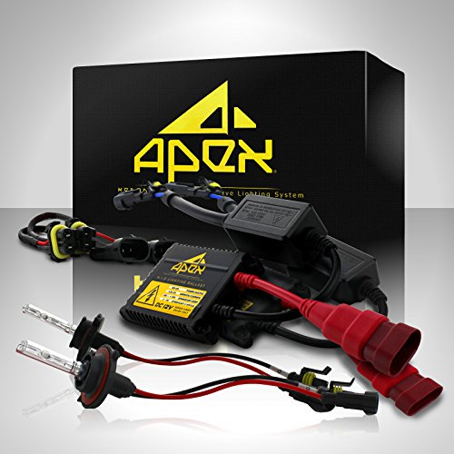 "55W Slim Apex 9006 / Hb4 Xenon Hid Conversion Kit ( 5K 5000K Oem White Color ) "" All Bulb Sizes And Colors "" With Premium 55 Watt Digital Ballasts Hids Kits"