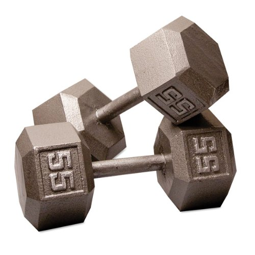 55 lb. Hex Dumbbell Pair