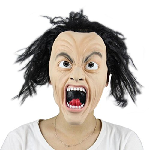 [AMA(TM) Halloween Party Cosplay Mask Pumpkin Scarecrow Terror Mask Head Mask (D)] (Out Of This World Alien Costume)