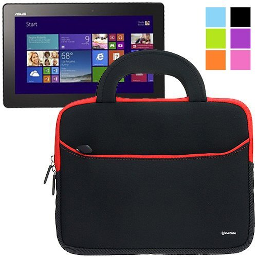 Evecase Ultraportable Travel Handle Portfolio Case Carrying Bag for Asus Transformer Book T100 - 10.1 inch Windows 8.1 Tablet