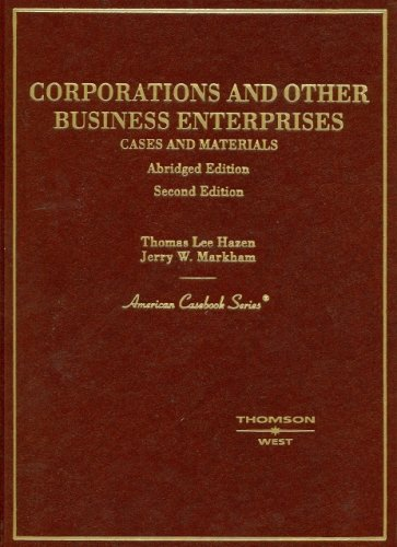 Corporations And Other Business Enterprises, Cases And Materials PDF