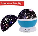 Sun And Star Lighting Lamp 4 LED Bead 360 Degree Romantic Room Rotating Cosmos Star Projector With 59 Inch USB Cable - Light Lamp Starry Moon Sky Night Projector Kid Bedroom Lamp for Christmas