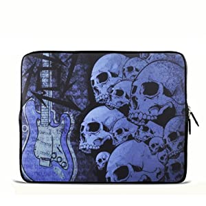 """ToLuLu® Gutar & Skull 12.5"""" 13"""" 13.3"""" inch Notebook Laptop Case Sleeve Carrying bag for Apple Macbook pro 13 Air 13/ Samsung 900X3 530 535U3/Dell XPS 13 Vostro 3360 Latitude E6230/ ASUS UX32 UX31 U36 X35 /SONY SD4 13/ ACER 13/ThinkPad X1 L330 E330"""