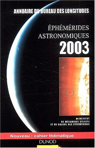 livre ph m rides astronomiques 2003 annuaire du. Black Bedroom Furniture Sets. Home Design Ideas
