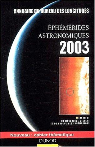 livre ph m rides astronomiques 2003 annuaire du bureau des longitudes. Black Bedroom Furniture Sets. Home Design Ideas