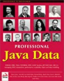 img - for Professional Java Data: RDBMS, JDBC, SQLJ, OODBMS, JNDI, LDAP, Servlets, JSP, WAP, XML, EJBs, CMP2.0, JDO, Transactions, Performance, Scalability, Object and Data Modeling book / textbook / text book