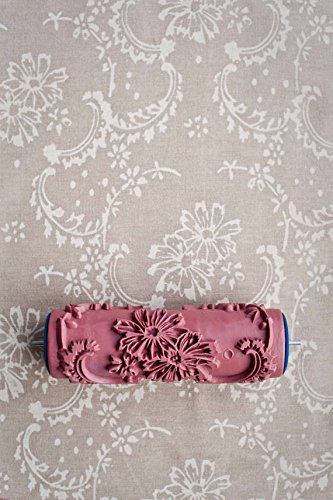 bueer-5-patterned-paint-roller-decorative-texture-roller-with-single-color-painting-machine-chrysant