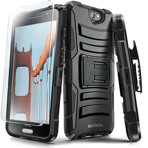 Evocel® HTC One A9 Case [Generation Series] Rugged Holster [Kickstand & Belt Swivel Clip] + HD Screen Protector For HTC One A9 / HTC Aero – (EVO-HTCA9-AB)