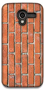 The Racoon Grip printed designer hard back mobile phone case cover for Moto X (1st Gen). (BRICK TEXT)