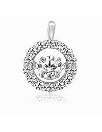 Kama Jewellery Karmel Dancing Diamond Collection 18k Pink And Gold Diamond Pendant