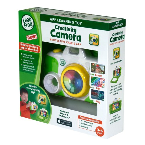 LeapFrog Creativity Camera App with Protective Case, Green (Works with iPhone 4/4s/5 and iPod touch 4G) - 1
